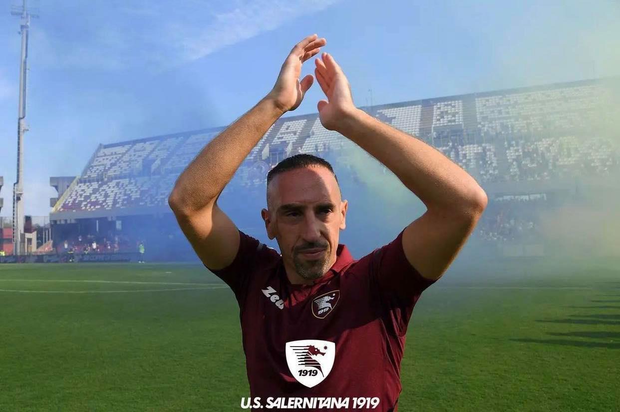 Serie A Franck Ribéry è ufficialmente un giocatore della Salernitana