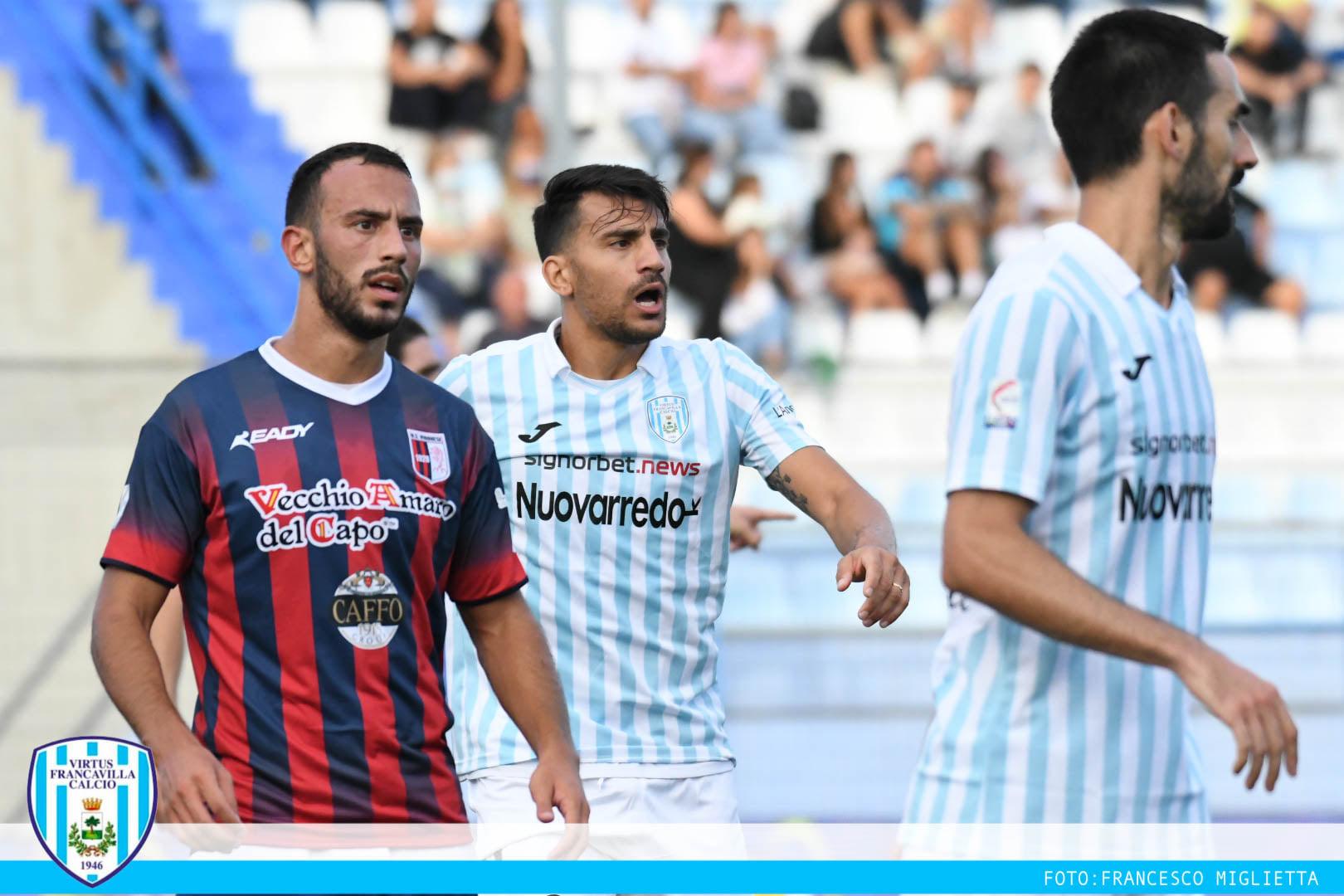 VIRTUS FRANCAVILLA basta Ventola Vibonese battuta 1-0, buona la prima in casa